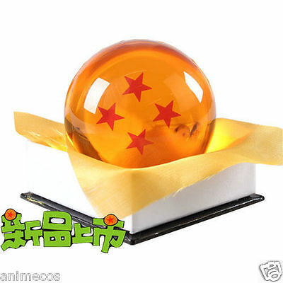 "Dragon Ball DragonBall Z Crystal Ball 4 Stars Diameter 3""/7.5cm Ball New in Box"