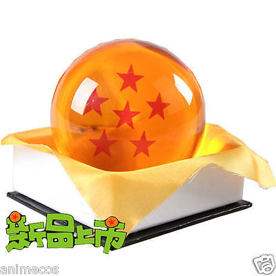 "Dragon Ball DragonBall Z Crystal Ball 6 Stars Diameter 3""/7.5cm Ball New in Box"