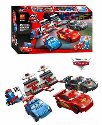 279Pcs Disney Cars Pixar Lightening Mcqueen Building Block Table Board Game Toy