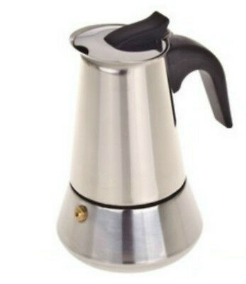 10 Cup Espresso Coffee Maker Perculator Percolator Stainless Steel Stove Top