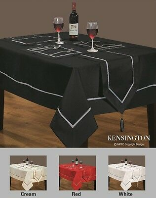 Tableware, Placemats,Plain Faux Silk Tablecloths,Runners Red,Cream,White,Black