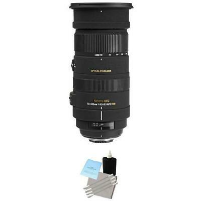 Sigma 50-500mm f/4.5-6.3 APO DG OS HSM Lens for Nikon w/Cleaning Kit