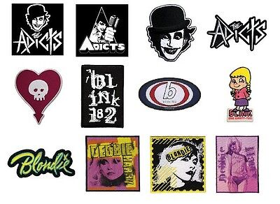 # THE ADICTS - BLINK 182 - official SEW ON PATCH logo patches