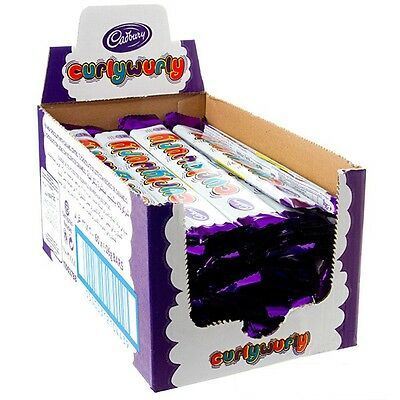 Bulk Lot 48 x Cadbury Curly Wurly Bars 26g Chocolate Caramel Buffet Sweets Favor