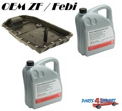 NEW OEM ZF Automatic Transmission Filter Kit & Oil Pan with10-Liters Trani Fluid