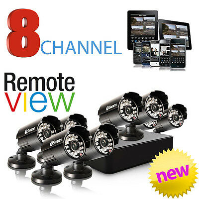 Swann DVR8-1525 CCTV 8x PRO-615 Cameras DVR Security System Surveillance New