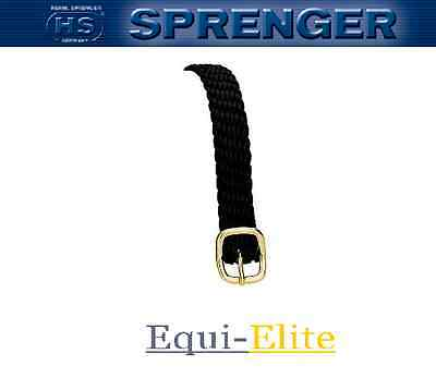 Sprenger Heavy Braided Perlon Spur Straps with Brass Buckle