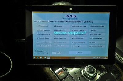 VCDS Pro VAG-COM HEX CAN Ross-Tech Diagnose Tester VCDSpro + 10 Zoll Tablet PC