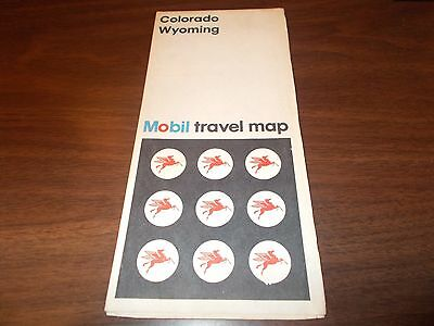 1972 Mobil Colorado/Wyoming Vintage Road Map