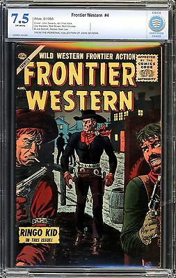 Frontier Western #4 CBCS 7.5 JOHN SEVERIN COLLECTION!!!