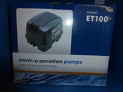 Hailea Enviro ET100 - Air Pump. 100 litres Per Hour. Koi & Fish Ponds .