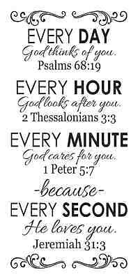 STENCIL*Every Day God loves You*12x24 Bible Verses painting signs,fabric,canvas