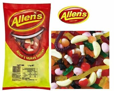 Bulk Lollies 1.3kg x Allens Party Mix  Candy Buffet Haloween Sweets Party Treats