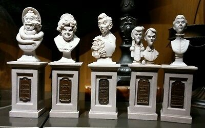 New Disney Parks THE HAUNTED MANSION 45th Anniversary BUST SET FIGURE FIGURINE