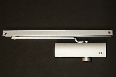 Automatic hydraulic Cam Action Silver Door Closer with Slidearm Hold Open