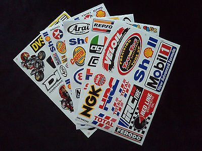 Wholesale 5 Sheets Motor Sport Decals - Stickers Motorcycle Mechanic Toolbox