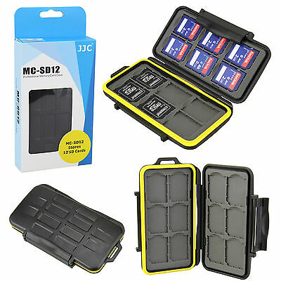 JJC MC-SD12 - Professional Memory Card case for 12 SD cards PADDED & WATERPROOF!
