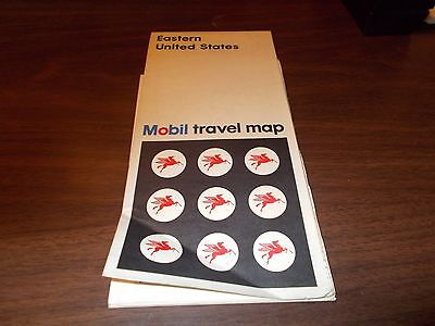 1967 Mobil Eastern US Vintage Road Map