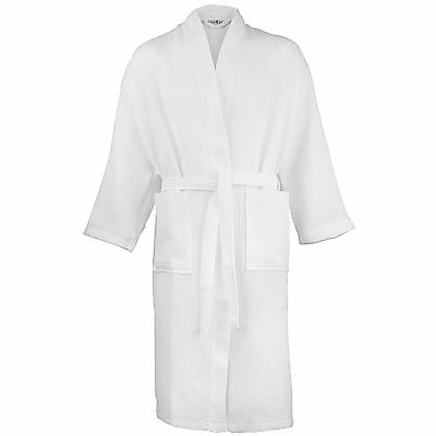 Ladies Women Waffle Traditional Robe Dressing Gown