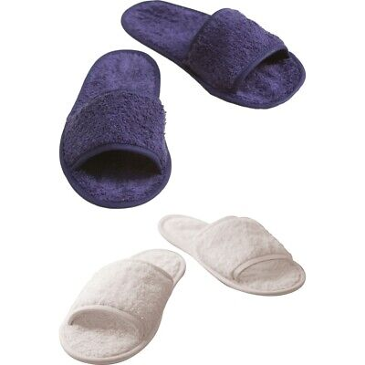 Unisex Adult Towel City Classic Cotton Material Open Mule Toe Terry Slippers