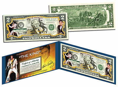 ELVIS PRESLEY * The King * Legal Tender U.S. $2 Bill * OFFICIALLY LICENSED *