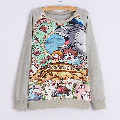 Studio Ghibli My Neighbour Totoro Long Sleeve T-shirt Jumper Sweater All Sizes