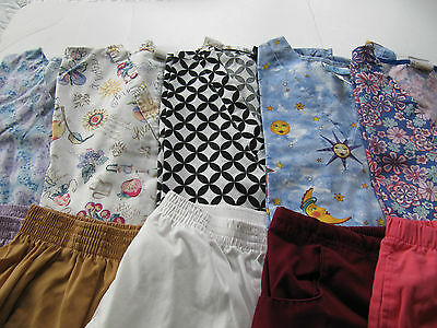 Womans Lot Of Scrub Sets, 5 Tops, 5 Pants, Very Nice     Size M  (Box 232)