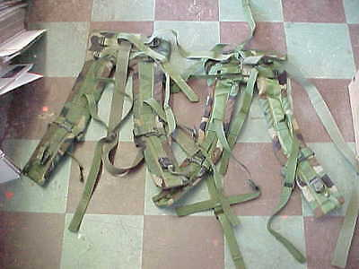 MOLLE II US Army (2)   Woodland Back Pack Frame Shoulder Straps NO TAILS PREPPER