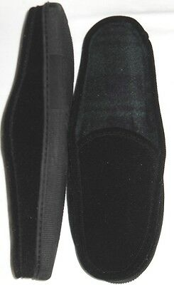 Slippers mens size 13-14M EUR 46-47 new man made materials Iso black washable