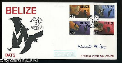 1994 BELIZE  Bats   FDC signed Michael Groth - actor