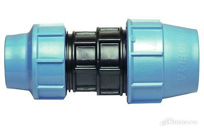 Reducing Coupling Straight Compression Fitting Blue Water/MDPE/Alkathene Pipe