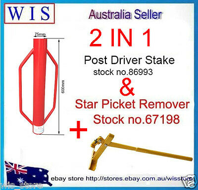 Steel Star Picket Lifter,Fence Post Remover& Star Picket Stake Steel Post Driver