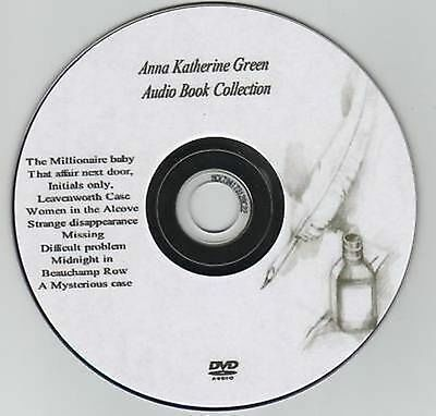 Anna Katharine Green 12 Audio Books on MP3 DVD 54hrs Leavenworth Initials xyz
