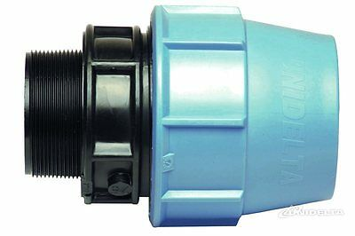 Male Nipple (Adaptor) Compression Fitting for Blue Water/MDPE/Alkathene Pipe