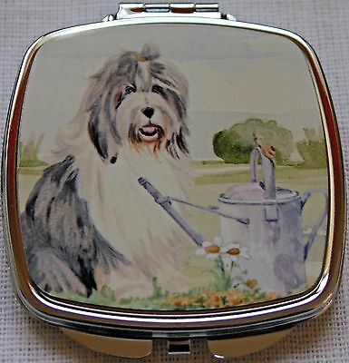 OLD ENGLISH SHEEPDOG ladies handbag mirror compact Sandra Coen sublimation print
