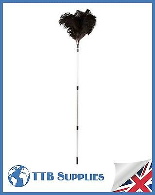 "Genuine Dustease Premium Ostrich Feather Duster - 48""-90""/120cm-225cm"