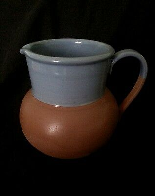 Vintage studio pottery clay pitcher 6.25 inches