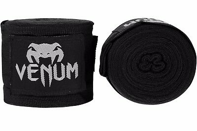 Venum Kontact Boxing Hand Wraps 4M Stretch Sparring Tape Muay Thai MMA Black
