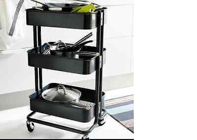 IKEA Raskog kitchen trolley Black kitchen island, Storage,Bathroom-NEW