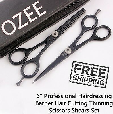 Professional Hair Cutting + Thinning Scissors Barber Shears Hairdressing Set