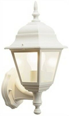 White Wall Lantern Outdoors Garden Traditional Coach Lantern - Aluminium 4Sided