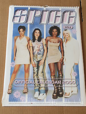 """SPICE GIRLS CALENDAR 2000 Official 16""""x12"""" New and Sealed"""