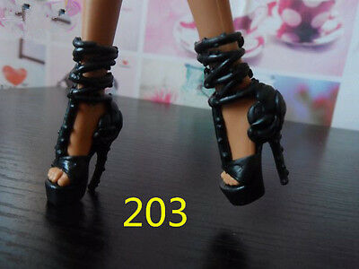 Dancing Black High Heel Party Shoes Monster High Dolls Accessories 203#