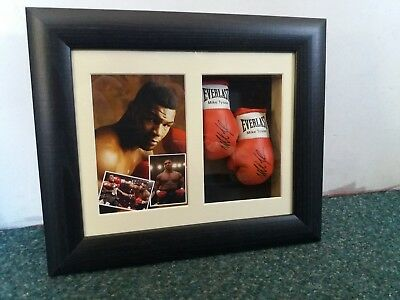 Mike Tyson Mini Signed Boxing Gloves Framed