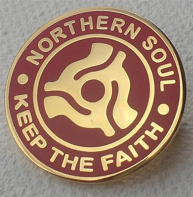 Northern Soul Badge - Keep The Faith - Record Centre - Red / Gold