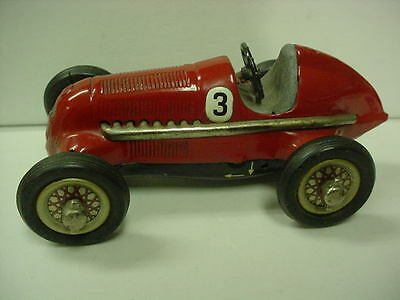 VINTAGE 1950's U.S. ZONE SCHUCO MERCEDES GRAND PRIX RACER #1050 WIND UP RACE CAR