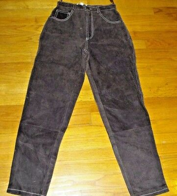 Women's Forenza brown leather pants size 6 inseam 30