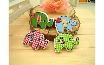 Wooden Buttons Randomly Mixed 20 x 29mm Elephant Sewing Scrap Booking