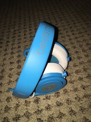 Beats by Dr. Dre Mixr Headband Headphones - Neon Blue WITH CASE