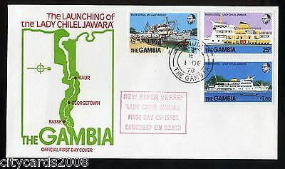 1978 GAMBIA - The Launching of Lady Chelel Jawara - River Vessel FDC